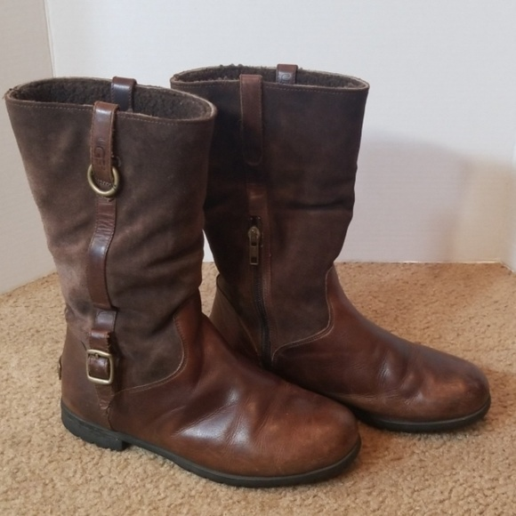 UGG Shoes - UGG Leather and suede boots